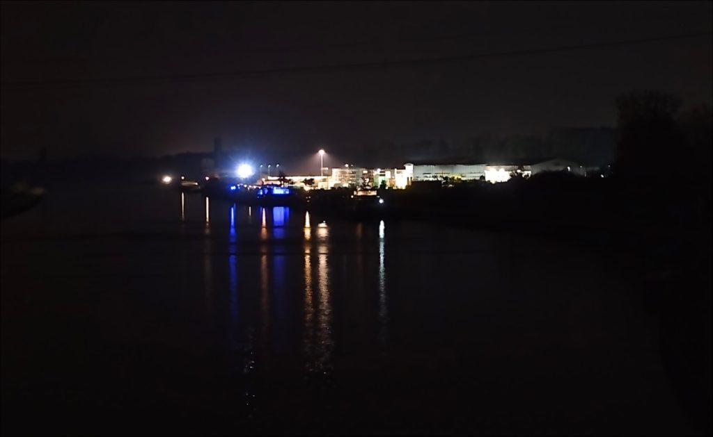 Bild: Pausenblicke Kanal Nacht Dortmund Ems Münster  Münsterland